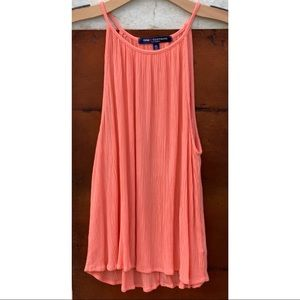 High Neck Salmon Coral Tank Top